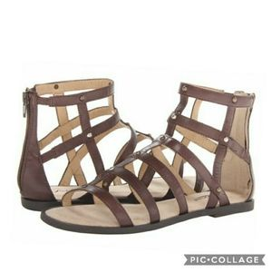 Lucky brand beverlee gladiator leather sandals 6.5